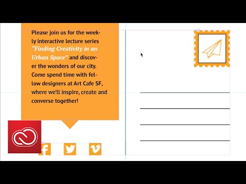 How to make a postcard in InDesign | Adobe Creative Cloud