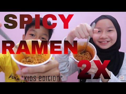 SAMYANG 2X SPICY RAMEN NOODLE 🔥 (AQIL CRIED?!)