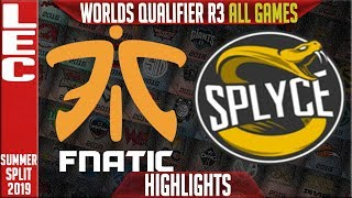 Download FNC vs SPY Highlights ALL GAMES | LEC Summer 2019 Worlds Qualifier R3 | Fnatic vs Splyce Video