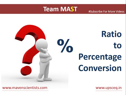 Ratio to Percentage conversion | Team MAST