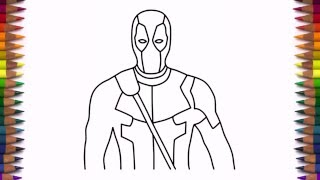 How To Draw Deadpool Step By Step Easy Drawing
