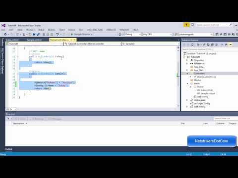 ASP.NET MVC Tutorial #6- Using ViewData, ViewBag and TempData