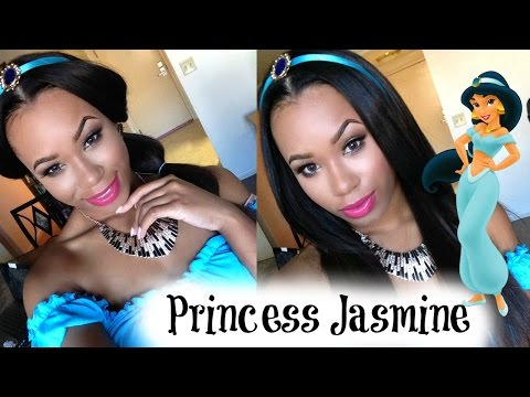 Princess Jasmine Halloween Tutorial | Hair, Makeup & Costume (COMPLETED LOOK!)