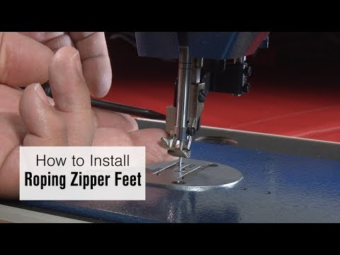 How to Install Left and Right Roping Zipper Feet on Ultrafeed LSZ-1
