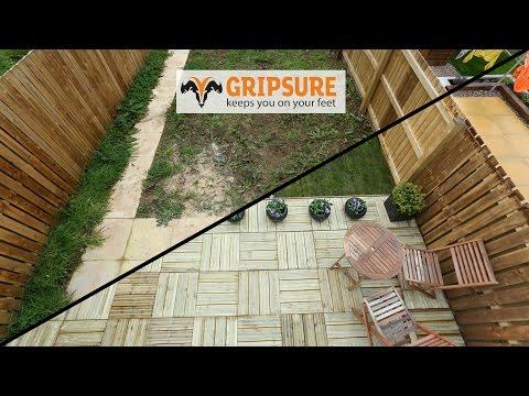 Garden makeover using Gripsure decking tiles