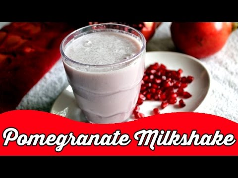 Cool Pomegranate Milkshake | Pink Fruit Smoothie