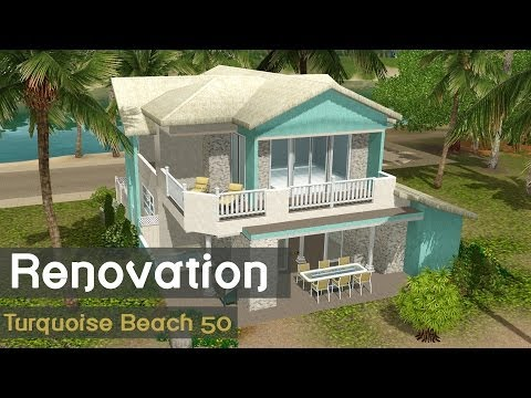The Sims 3 - Speed Build house renovation - Turquoise Beach 50