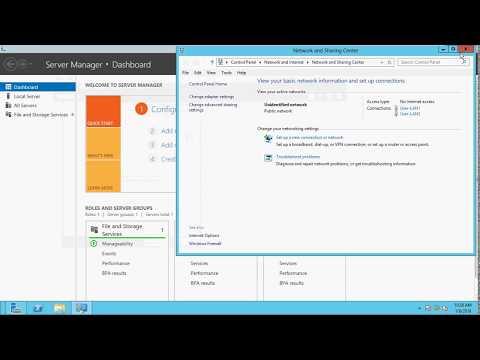 Assign IP to Windows Machine on VM-Ware
