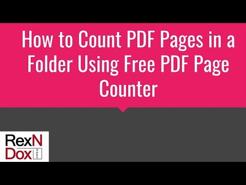 How to count PDF pages in a folder using free pdf page counter