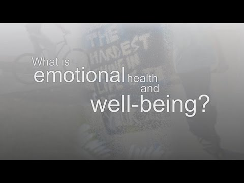 What is emotional health and well-being?