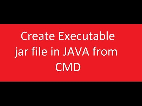 JAVA : Creating jar file with Command prompt .