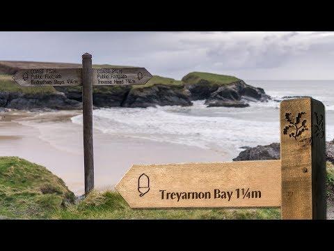 Treyarnon Bay in Cornwall