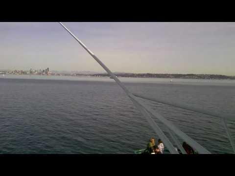 Bainbridge Island Ferry in Route to Seattle