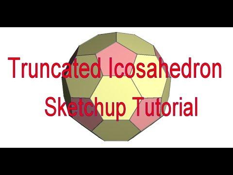 Truncated Icosahedron sketchup tutorial (Bucky Ball)