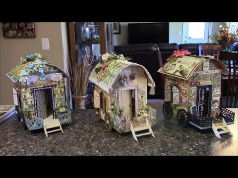 TUTORIAL - PART 1 GYPSY WAGON USING GRAPHIC 45 PAPER - DESIGNS BY SHELLIE