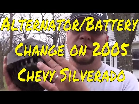 How to Change an Alternator and Battery on a 2005 Chevy Silverado Truck