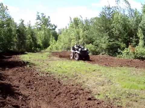 ATV DEER FOOD PLOTTING HOMEMADE PLOW/DISC