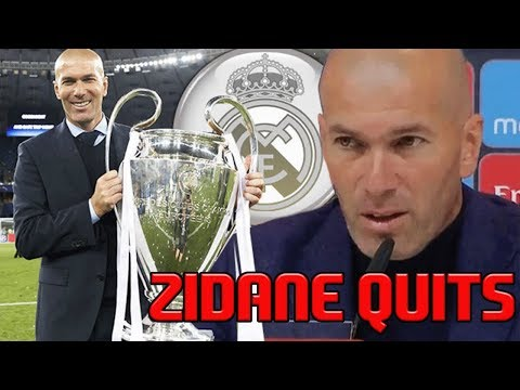 ZIDANE QUITS REAL MADRID | RONALDO & BALE TO LEAVE NEXT? | GREATEST MANAGER OF CHAMPIONS LEAGUE?