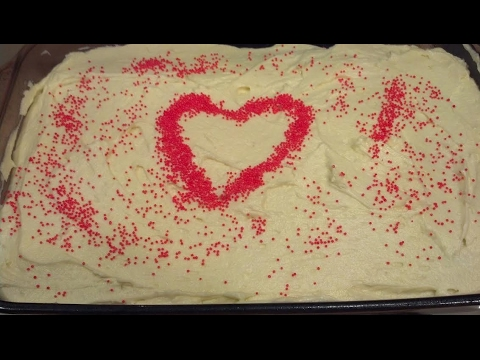Red Velvet Cake with Cooked Icing--Happy Valentine's Day!
