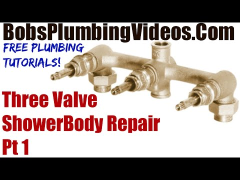 Gerber Three Valve Shower Body Repair - Part 1