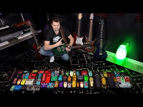 Turning on ALL MY GUITAR PEDALS (ridiculous)