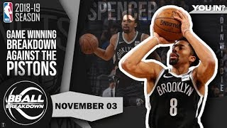 Nets Guard Spencer Dinwiddie Breaks Down His Game Winner Over The Pistons