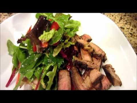 Salad with Steak Strips