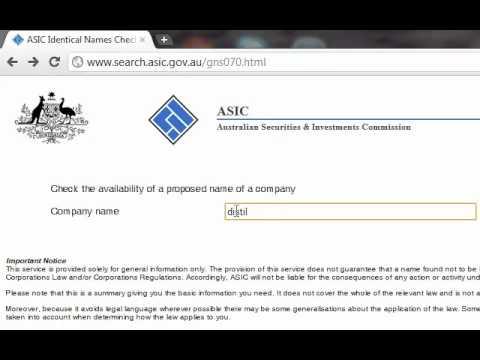 Australia Company Name Check - Company Name Availability