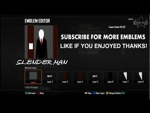Black Ops 2 Emblem Slender Man Tutorial