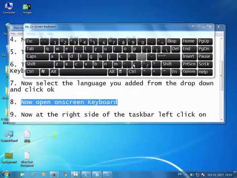 HOW To Change KEYBOARD INPUT LANGUAGE In WINDOWS 7, 8 and 10