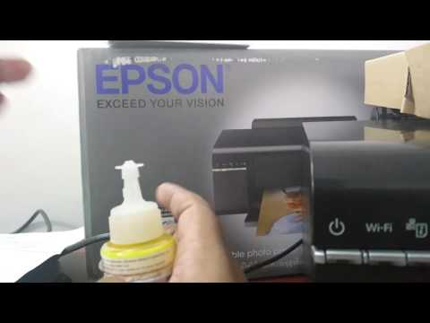 Epson L805 Printer Ink Filling and Wifi Setup