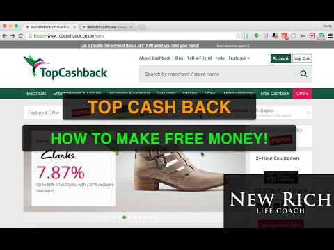 Topcashback: How To Make FREE Money with Topcashback in UK and US! [Over £2000 So Far]