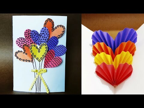 Easy & Simple Handmade 3d Pop up Heart Card for Birthday, Valentines day, Anniversary, Christmas