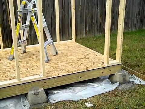 How to Build a Shed - Part 1, Shed Foundation