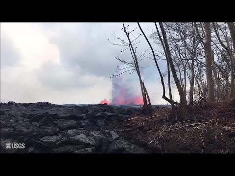 Video of fissure 8 on May 29, 2018 (USGS)