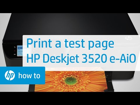 Printing a Test Page-HP Deskjet 3520 e-All-in-One Printer