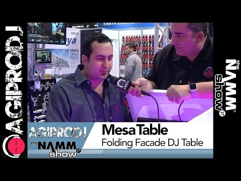 PROX Mesa Table Portable DJ Booth/Facader | NAMM.17 - agiprodj.com