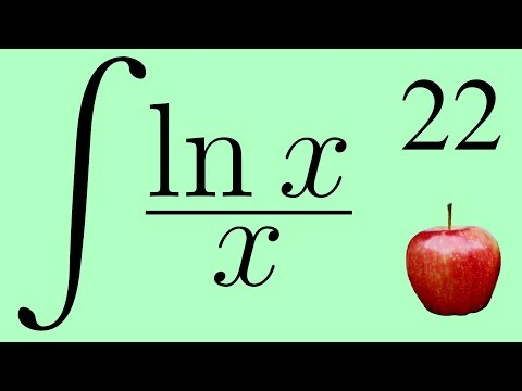 Calculus 2: The Integral of ln x / x