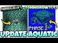 Minecraft - AQUATIC UPDATE [ Phase 2 ] OUT TOMMOROW ?!?!?! MCPE / Xbox / Bedrock / PS4