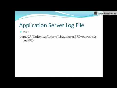 Autosys Tutorial: How to run Application server in CA Autosys
