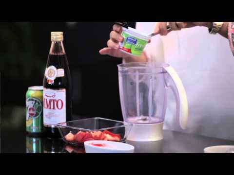 Break Your Fast: Strawberry Yogurt with Vimto Syrup