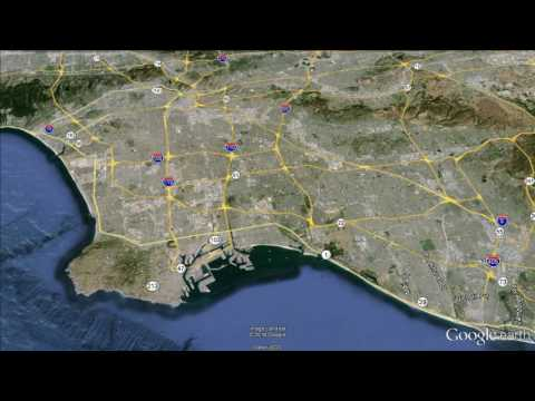Los Angeles: Google Earth Fly-By/Zoom-In