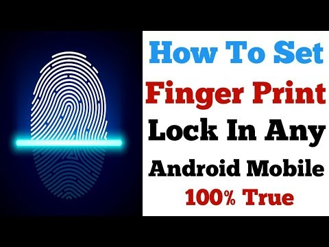 HOW TO SET FINGER PRINT LOCK ON ANY ANDROID MOBILE WITHOUT ROOT🔥
