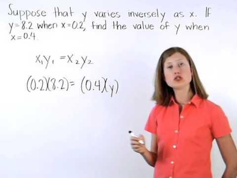 Inverse Variation | MathHelp.com