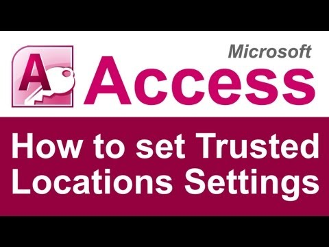 How to update Trusted Location Settings in Microsoft Access
