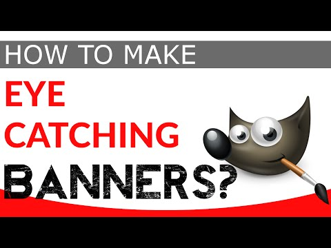 How To Make A YouTube Banner in Gimp (FREE TEMPLATES)