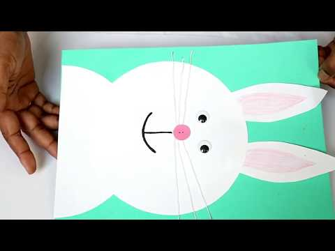 Simple and Easy Paper Bunny craft/ Easter Bunny making For kids/Cute Bunny Rabbit/Kids project ideas