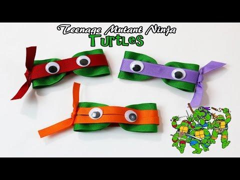 DIY Teenage Mutant Ninja Turtle hair clips | TMNT hair bows