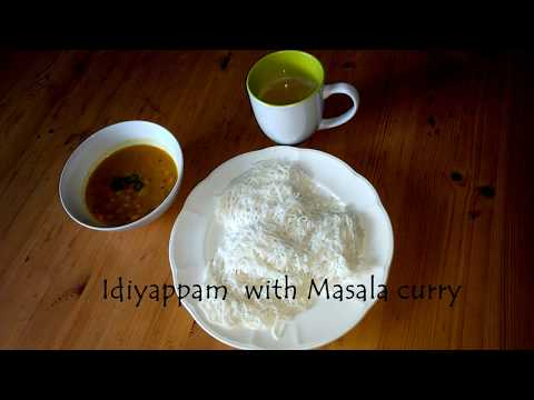 Idiyappam with Quick Masala curry