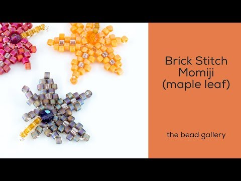Beaded Momiji in Brick Stitch  (Japanese Maple): Get Started at The Bead Gallery